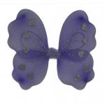 купить Крылья Бабочки с сердечками (фиолетовые) 32х36см цена, отзывы