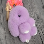 купить Меховой брелок на сумку Зайчик (lavender) цена, отзывы