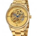 купить Мужские Скелетон часы Forsining Gold Edition цена, отзывы