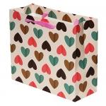 купить Подарочный Пакет Сердца 27 см цена, отзывы