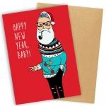 купить Открытка Happy New Year Baby цена, отзывы