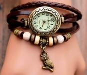 купить Женские классические часы CL Owl Brown цена, отзывы