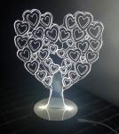 купить Светильник Оптический обман 3D Love Tree цена, отзывы