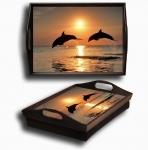 купить Поднос подушка Дельфины цена, отзывы