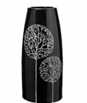 купить Ваза глянцевая Деревья черная 27 см цена, отзывы