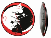 купить Настенные Часы Коты Инь Янь цена, отзывы