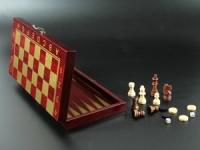 купить Настольная Игра Шахматы и Нарды 2в1 цена, отзывы