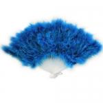 купить Веер перо (Голубой) цена, отзывы