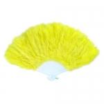 купить Веер перо (желтый) цена, отзывы