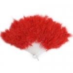 купить Веер перо (красный) цена, отзывы