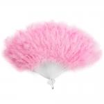 купить Веер перо (Розовый) цена, отзывы