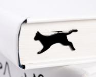 купить Закладка для книг Бегущая кошка цена, отзывы