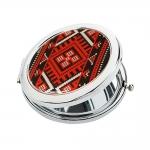 купить Карманное зеркало Украинская вышиванка цена, отзывы