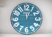 купить Часы Париж (антично-синий) цена, отзывы
