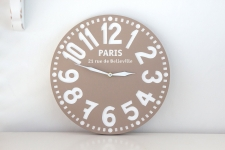 купить Часы Париж (пастельно-коричневые) цена, отзывы