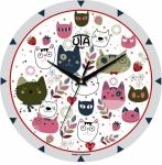 купить Настенные Часы Mini Веселые Котята цена, отзывы