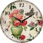 купить Настенные Часы Vintage Кувшин с Розами цена, отзывы