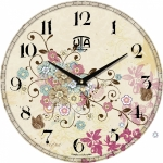 купить Настенные Часы Vintage Бабочки в Цветочном саду цена, отзывы