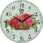 купить Настенные Часы Vintage Садовые цветы в корзинке цена, отзывы