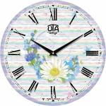 купить Настенные Часы Vintage Венок из полевых цветов цена, отзывы
