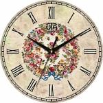 купить Настенные Часы Vintage Венок полевых цветов цена, отзывы