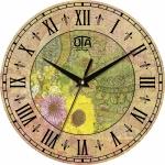 купить Настенные Часы Vintage Абстракция с цветами цена, отзывы