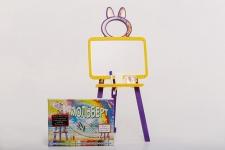 купить Мольберт двусторонний Active Baby Жёлто-фиолетовый  цена, отзывы