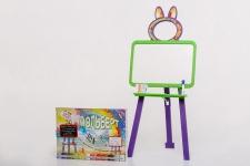 купить Мольберт двусторонний Active Baby Салатово-фиолетовый  цена, отзывы