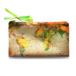 купить Косметичка Карта коричневая цена, отзывы