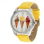 купить Часы Наручные Мороженое (Желтые)  цена, отзывы