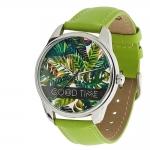 купить Часы Наручные Пальмовые Листья Green цена, отзывы