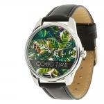 купить Часы Наручные Пальмовые Листья Black цена, отзывы