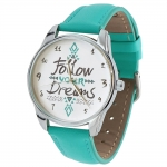 купить Часы наручные Follow your dreams бирюзовый цена, отзывы