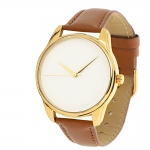 купить Часы Наручные Минимализм Коричневый Gold цена, отзывы