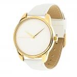 купить Часы Наручные Минимализм Белый Gold цена, отзывы