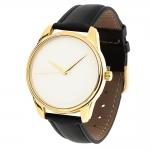 купить Часы Наручные Минимализм Бело-Черный Gold цена, отзывы