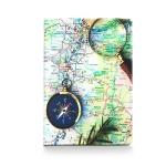 купить Обложка для паспорта Карта с Компасом цена, отзывы