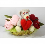 купить Букет из конфет с игрушкой С любовью, твой Тедди цена, отзывы