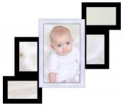 купить Мультирамка Лесенка на 5 фото (Черно-Белая) цена, отзывы