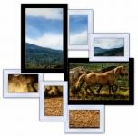 купить Мультирамка Волна Любви на 7 фото (Черно-Белый) цена, отзывы