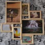 купить Мультирамка Волна Любви на 7 фото (Натуральное Дерево) цена, отзывы