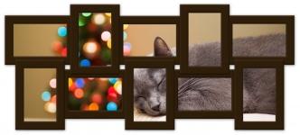 купить Мультирамка Воспоминания на 10 фото (Венге) цена, отзывы
