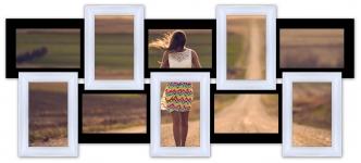 купить Мультирамка Воспоминания на 10 фото (Черно-Белый) цена, отзывы