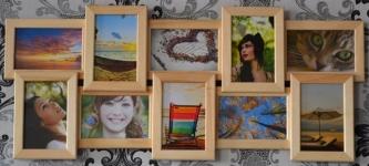 купить Мультирамка Воспоминания на 10 фото (Натуральное дерево) цена, отзывы