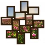 купить Мультирамка Зигзаг на 12 фото (Венге) цена, отзывы