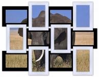 купить Мультирамка Классика на 12 фото (Черно-Белый) цена, отзывы
