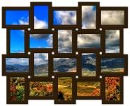 купить Мультирамка Классика на 20 фото (Венге) цена, отзывы