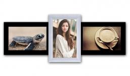 купить Пластиковая Мультирамка Полет на 3 фото (Черно-Белый) цена, отзывы