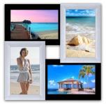 купить Пластиковая Мультирамка Классика на 4 фото (Черно-Белое) цена, отзывы