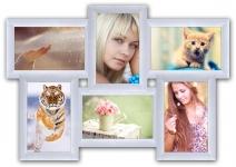 купить Пластиковая Мультирамка Классика на 6 фото (White) цена, отзывы